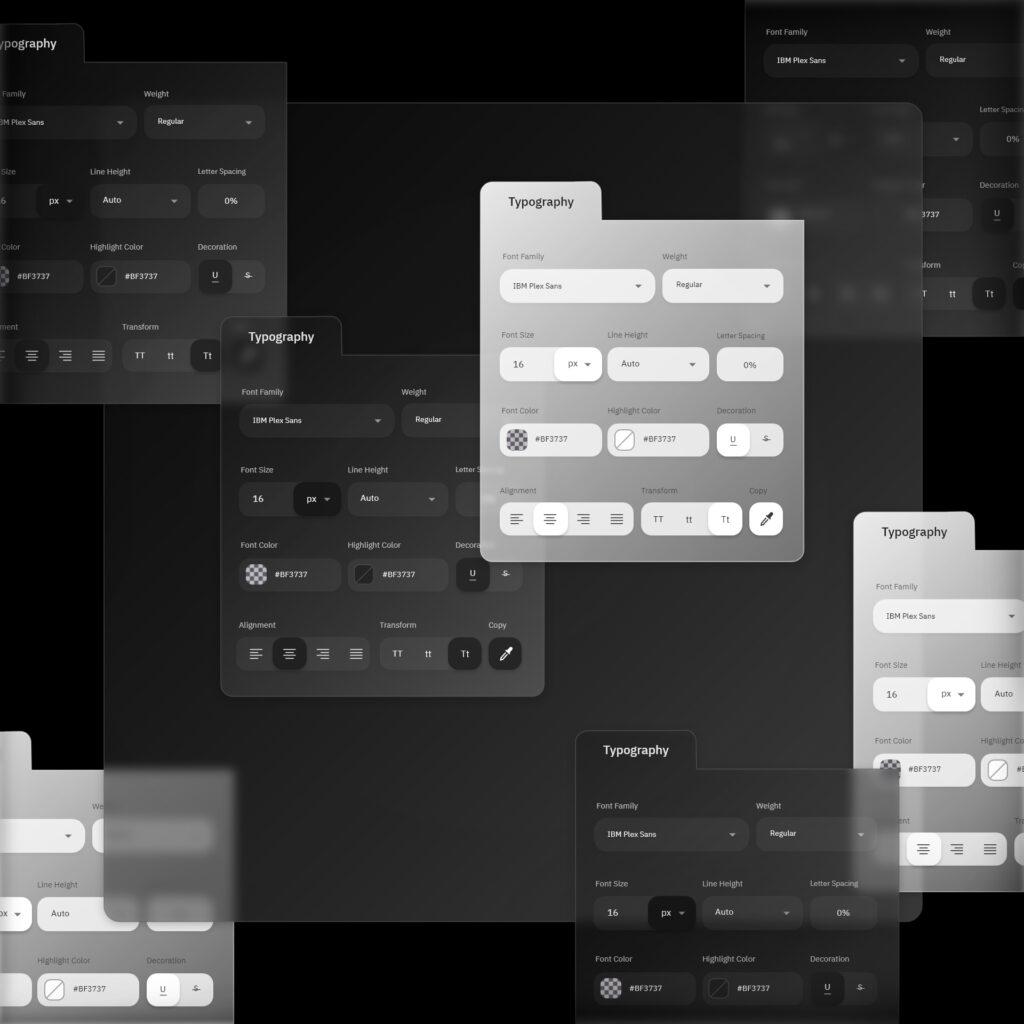 Typography tools concept design