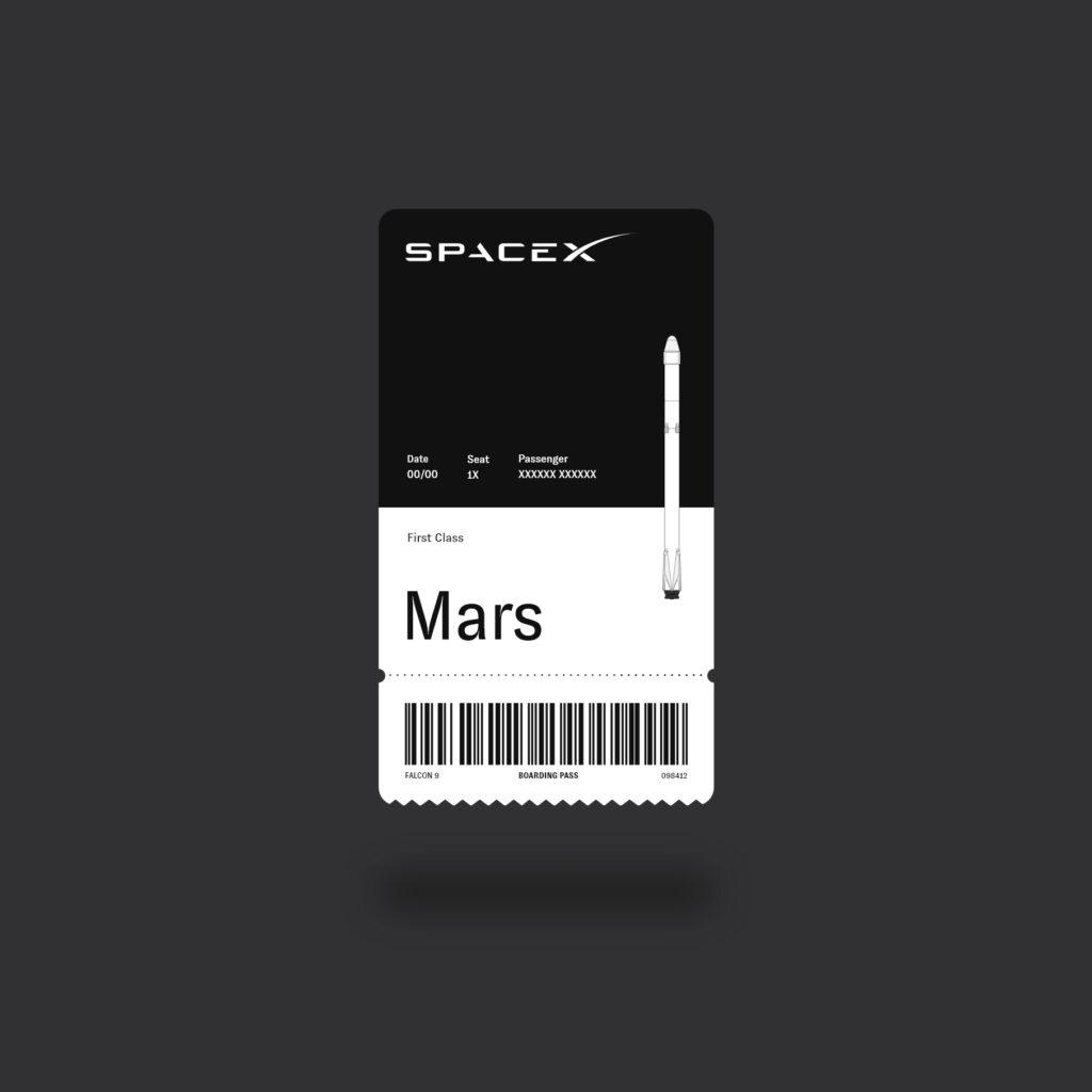 Space X email receiptdesign concept