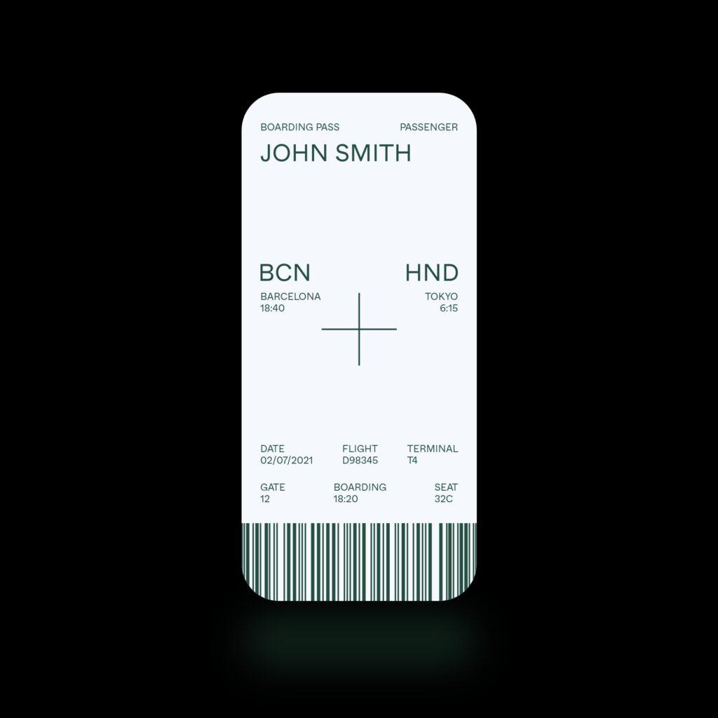 Minimal boarding pass concept