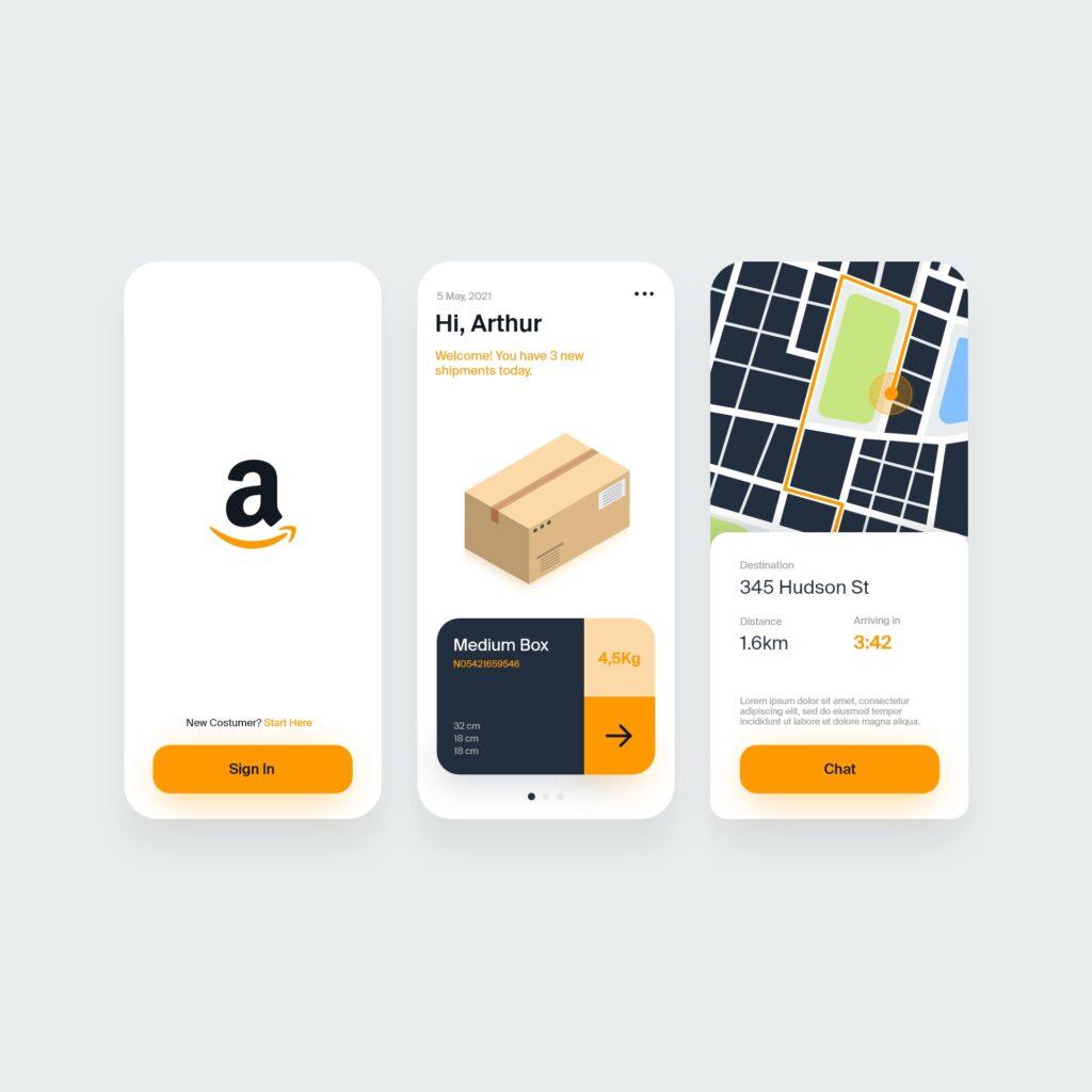 Amazon location tracker app concept