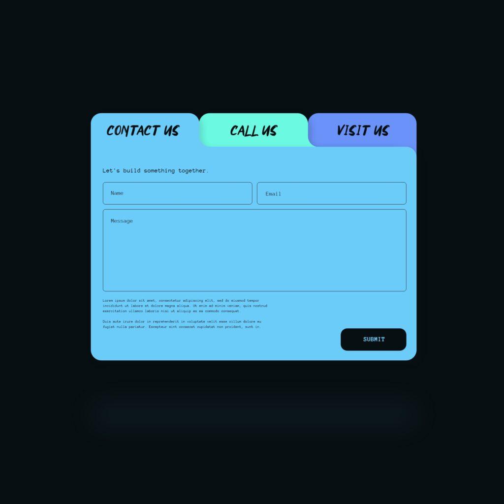 Contact us interface design concept