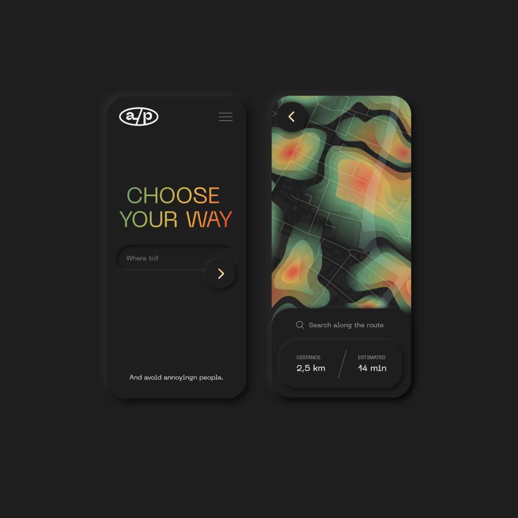 Heat map app concept