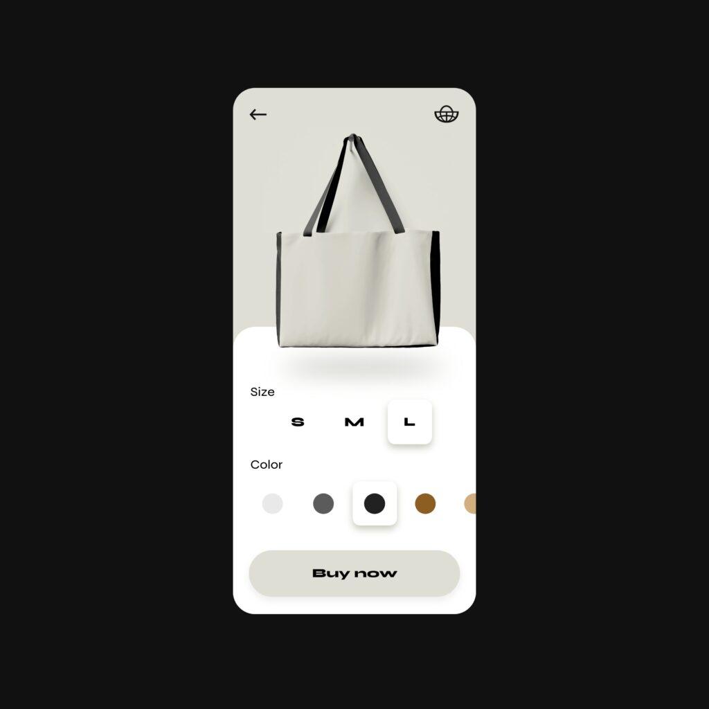 Bag customizer design concept