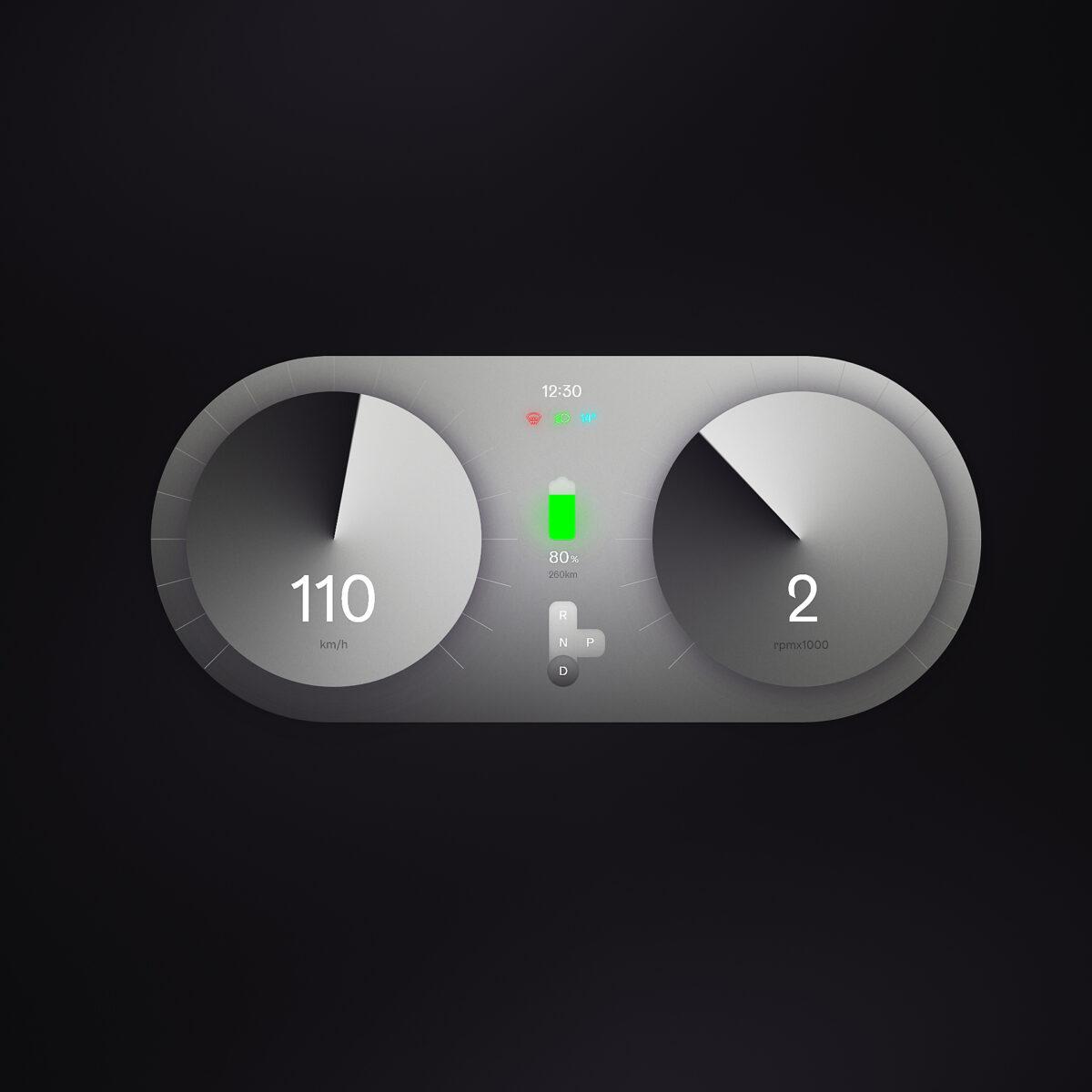 Car interface retro design concept