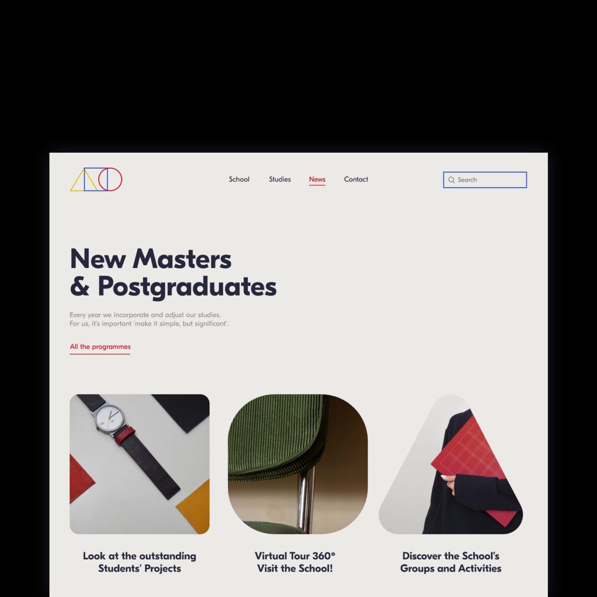 Bauhaus School concept web design