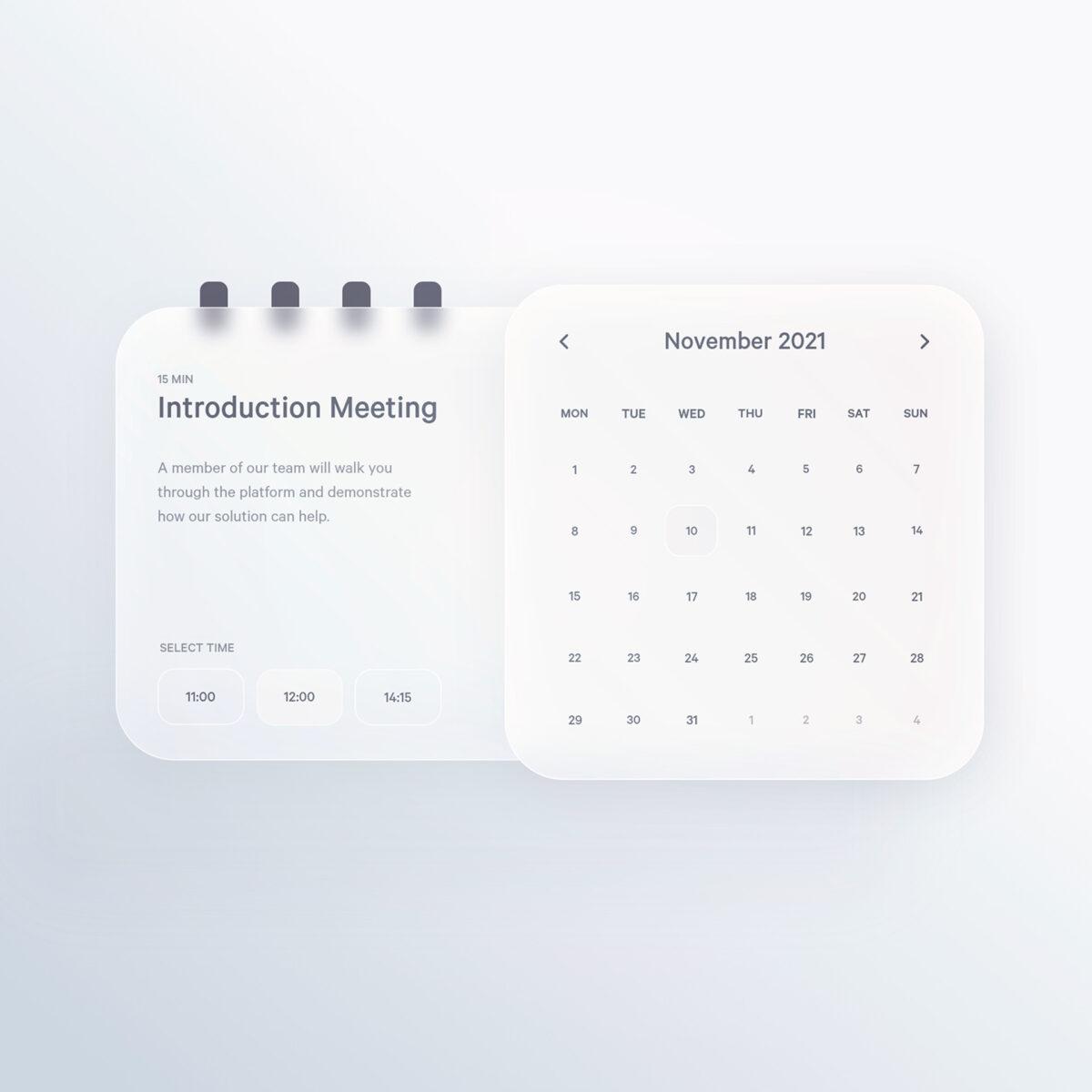 Minimal calendar concept design