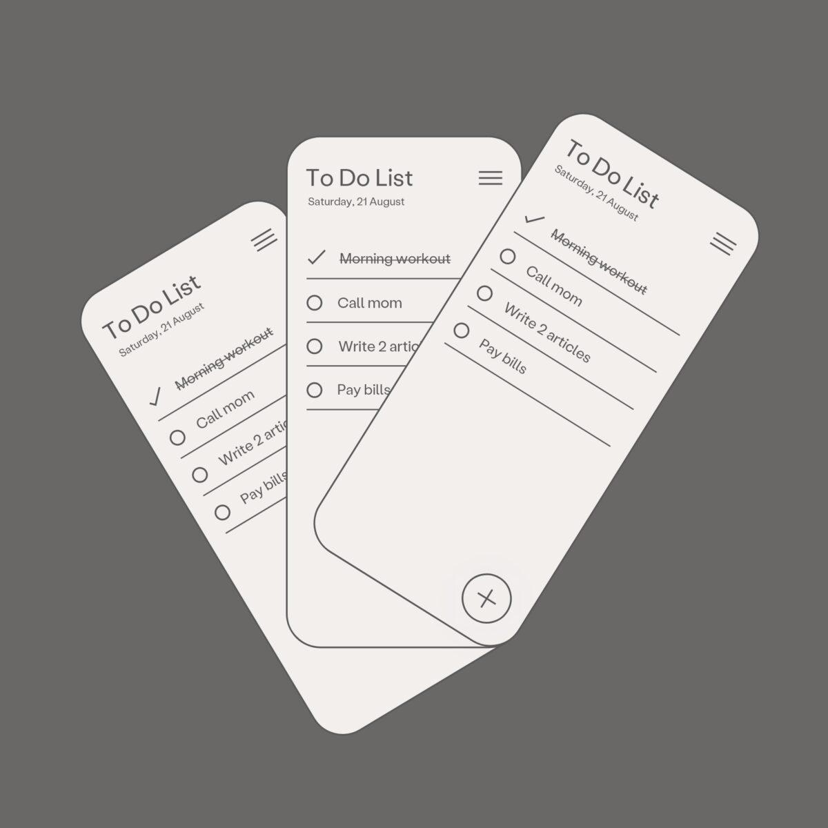 To-do list app concept design